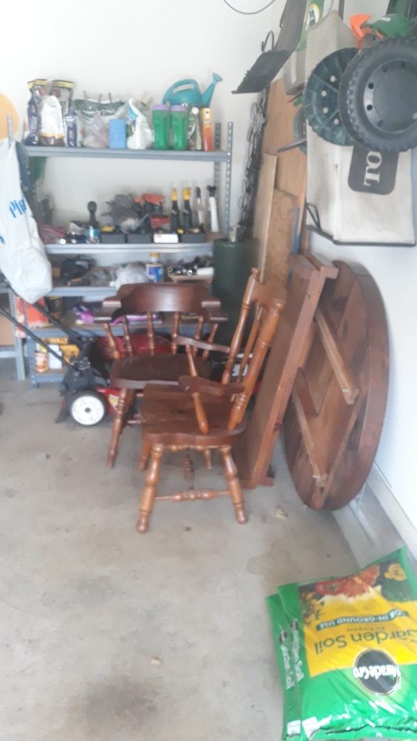Remove old furniture and table for a repeat customer