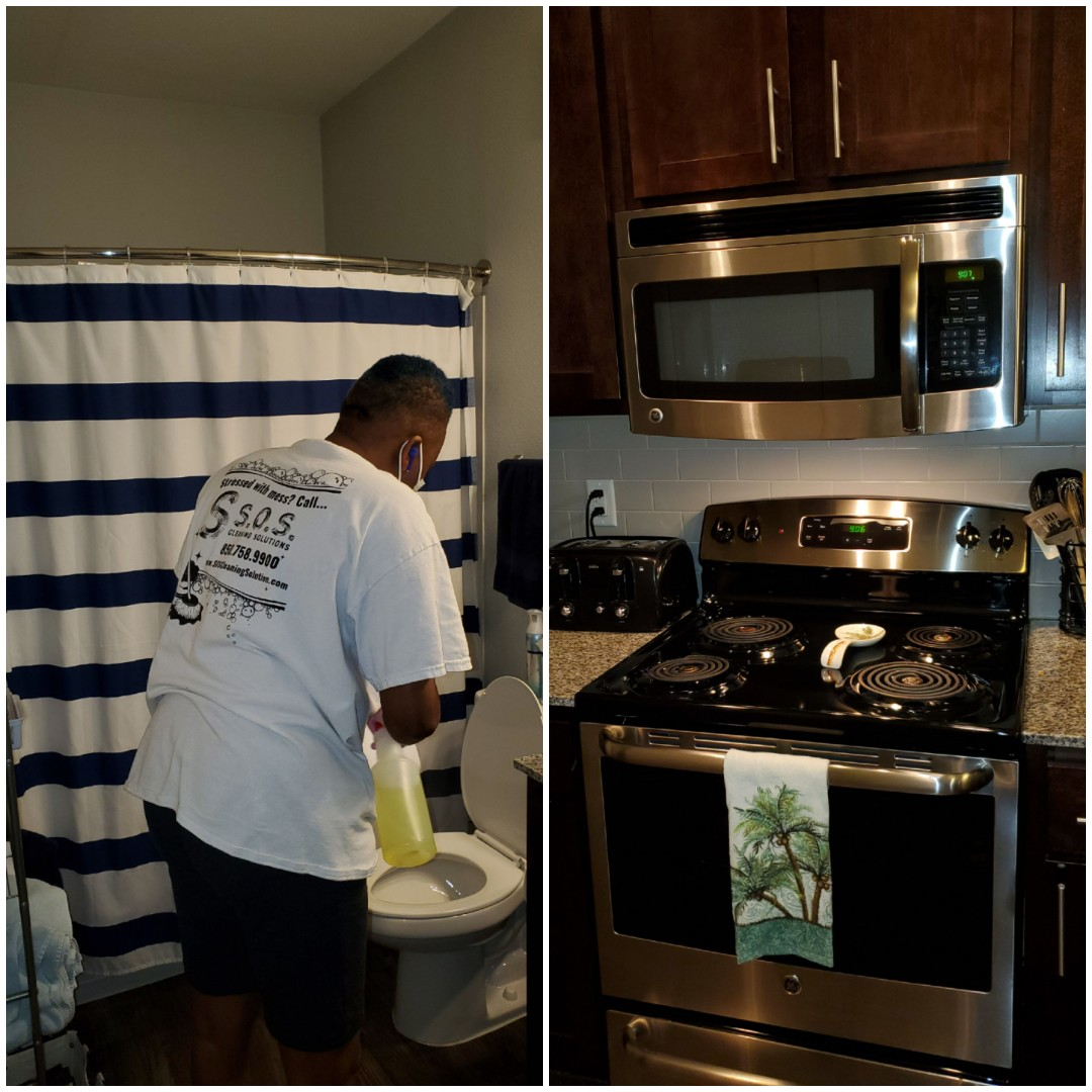 Starting the day with a house cleaning for one of our reoccurring clients here in Pensacola.  Well team clean and and close bathrooms kitchens floors making beds and dusting getting those areas that often get neglected