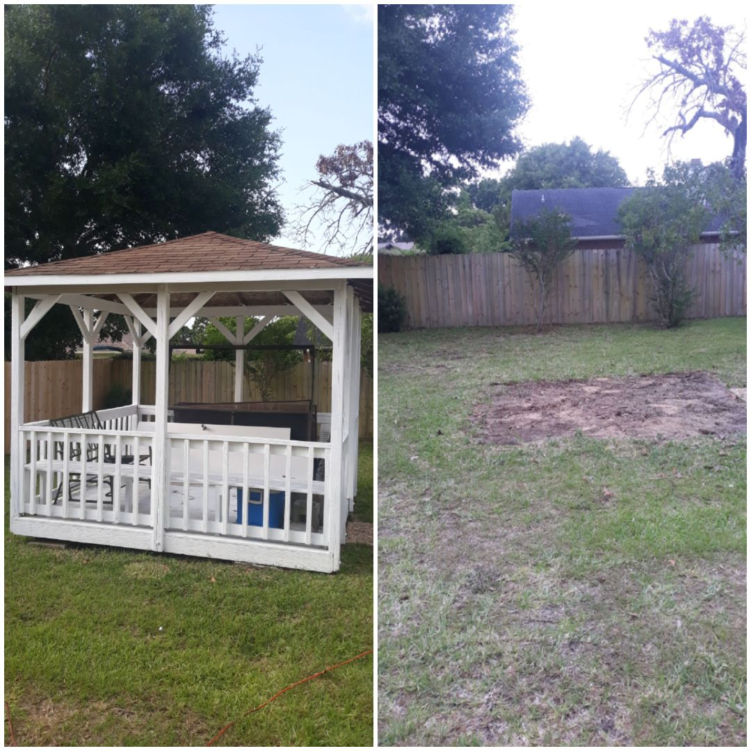 Good morning just finish teardown this gazebo for a customer this morning wasn't to bad