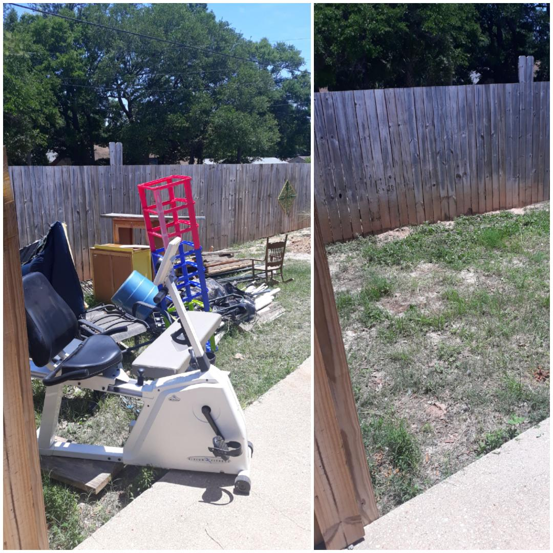 Just finish remove trash and wood from the customer backyard today in Pensacola fl