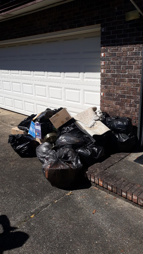 Trash removal today for a customer repeat customer