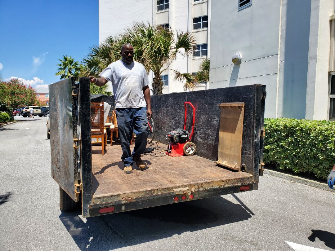 Removing some furniture from condo in beautiful Pensacola Beach for one of our favorite clients!!!