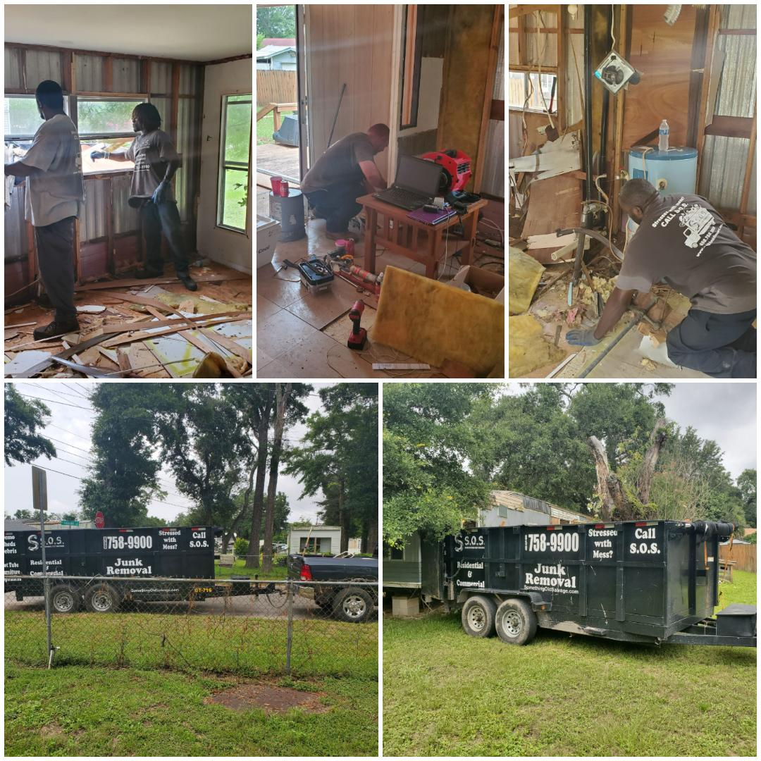 Completing some interior demolition on a mobile home in West Pensacola and hauling away the debris for one of our property investor clients!!!