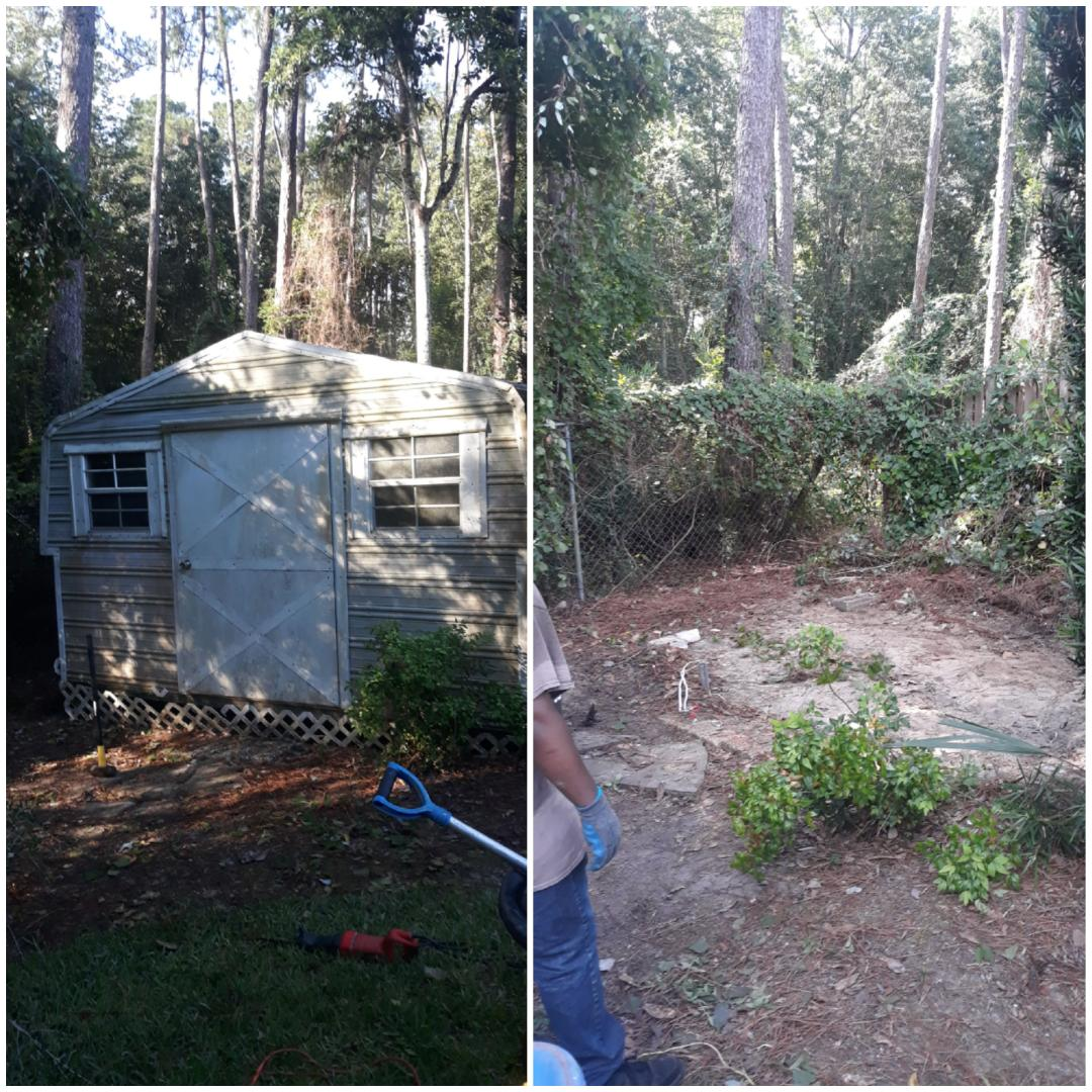 Good morning just finish tearing down a shed for a customer
