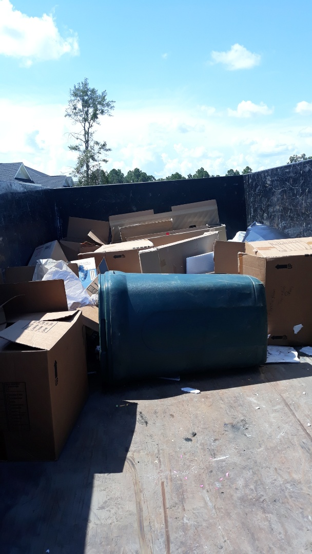 Cantonment, FL - Just pick up some boxes and trash debris from repeat customer  here today