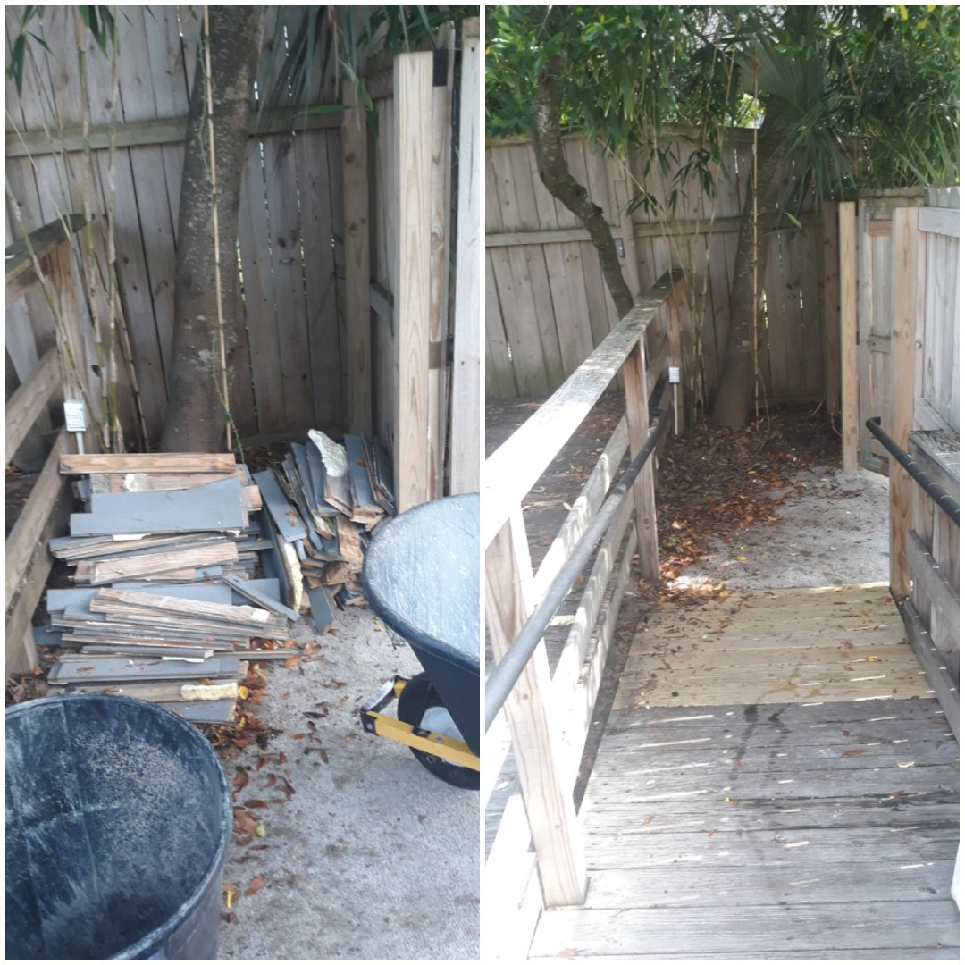 Just finished removing some old decking wood for repeat customer here in Pensacola Florida