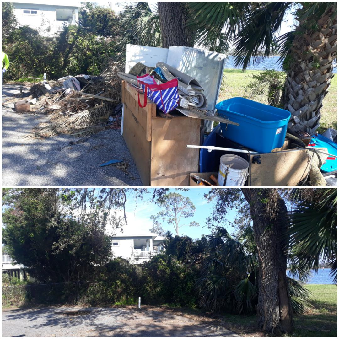 Just finish removal debris from a customer yards today here in Pensacola Fla