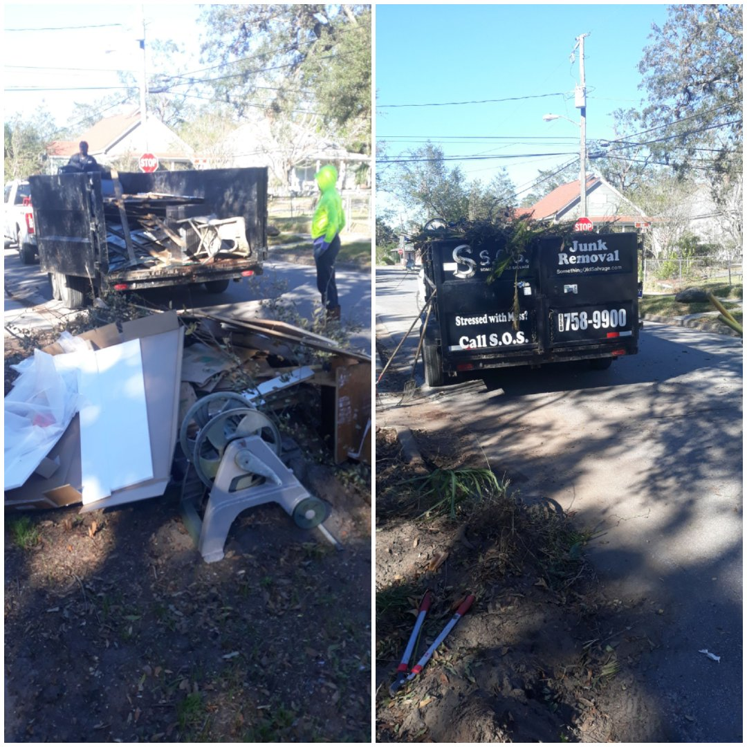 Just finish removal yard debris and trash in front of customer home