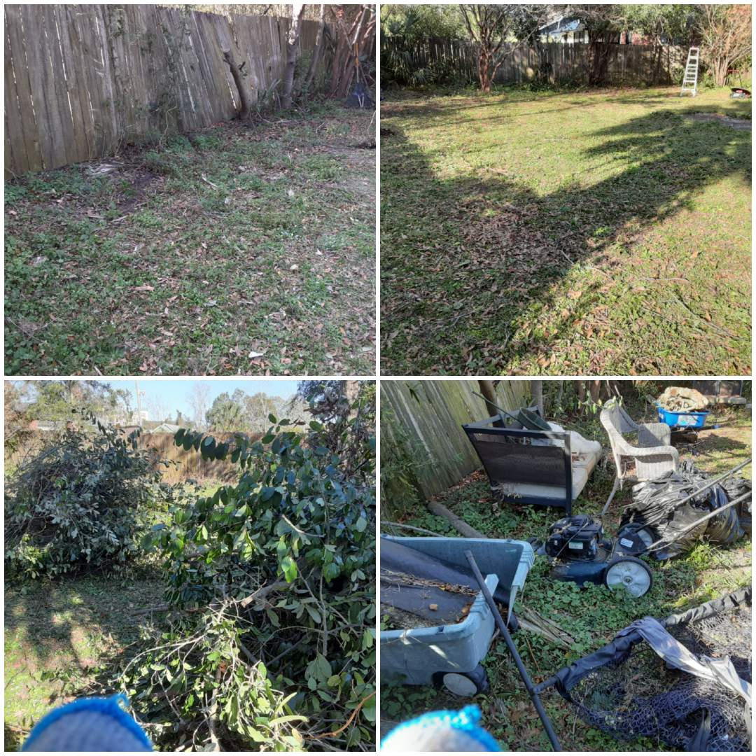 Here off of Strong Street doing a yard debris cleanup