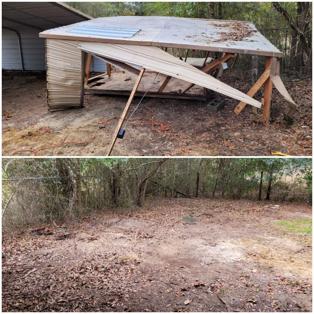 Milton, FL - Just finished demo and removal old shed for a customer