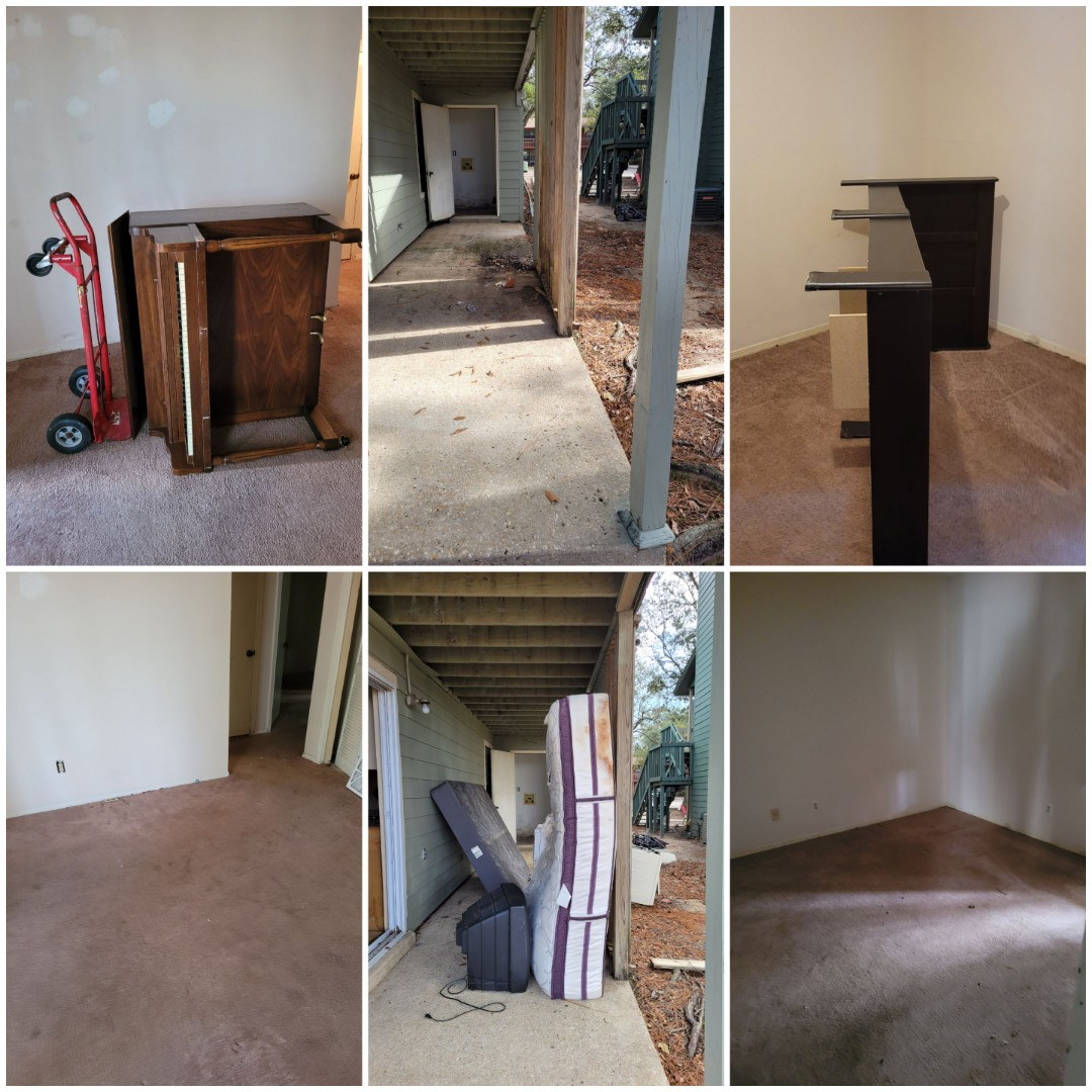 Just finished doing a apartment clean out for a customer here in Pensacola FL