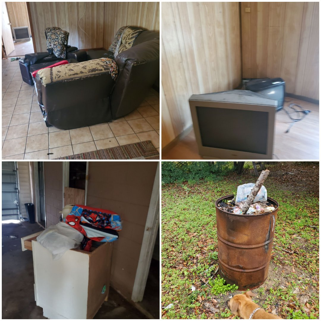 Contacted by property manager to remove trash and junk left by tenant in rental and then perform deep clean to get place ready to put on market to be rented in Pensacola.
