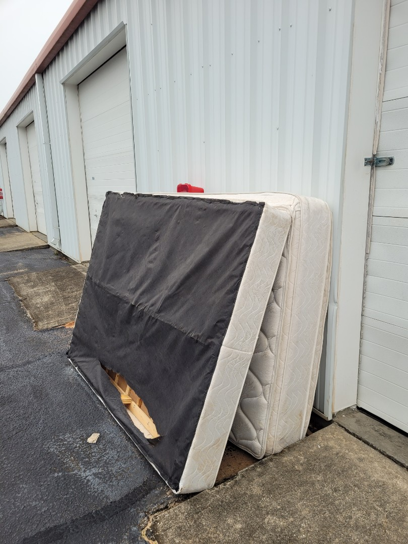 Remove old mattress and box spring from a storage unit