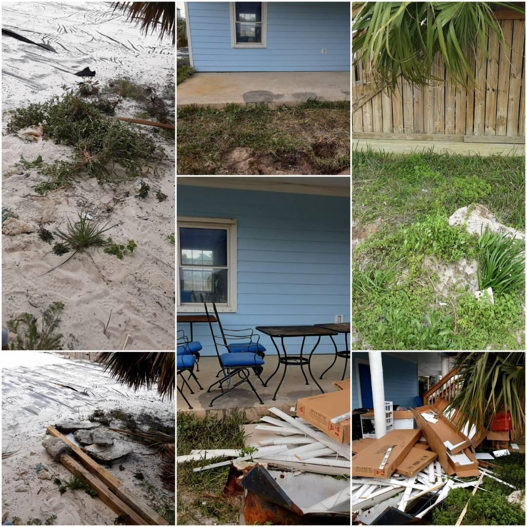 Here on Pensacola Beach pickup  yard debris