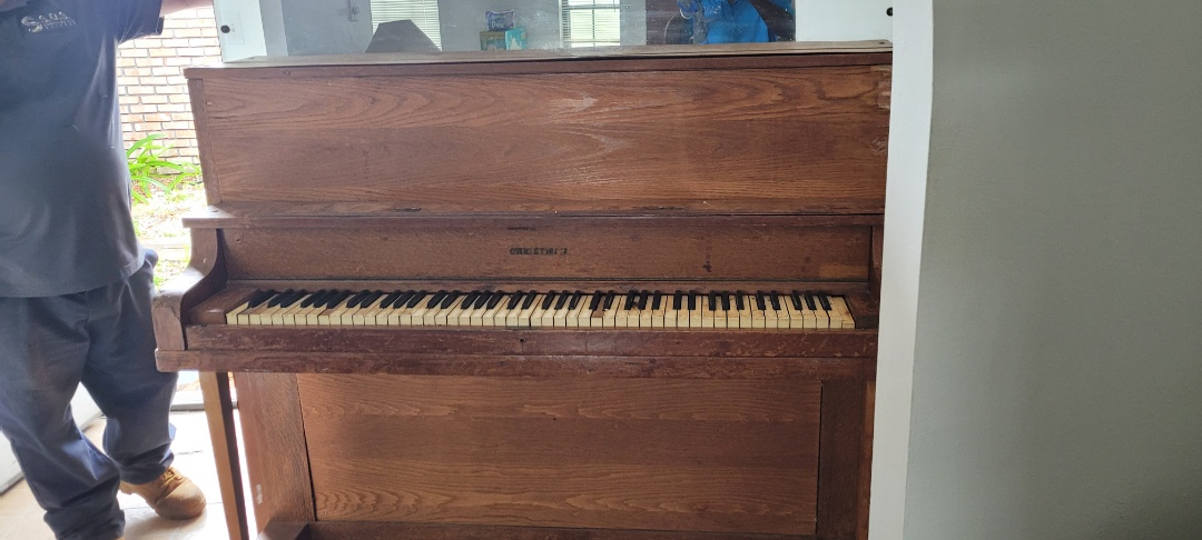 Just finished removing old piano and other trash for customer