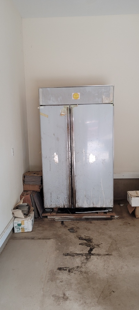 Just finished removing old refrigerator out of customer garage