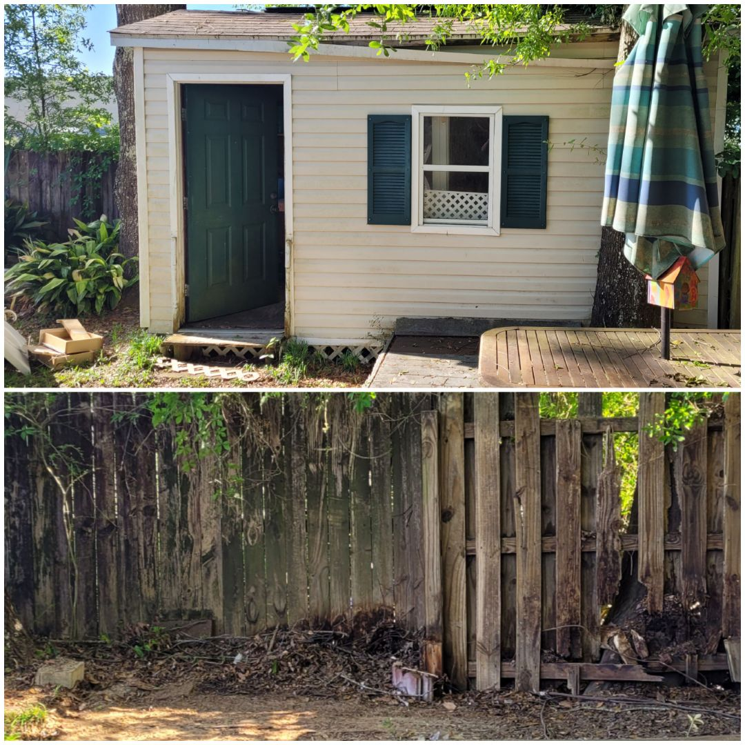 Just finished demo and removal of shed