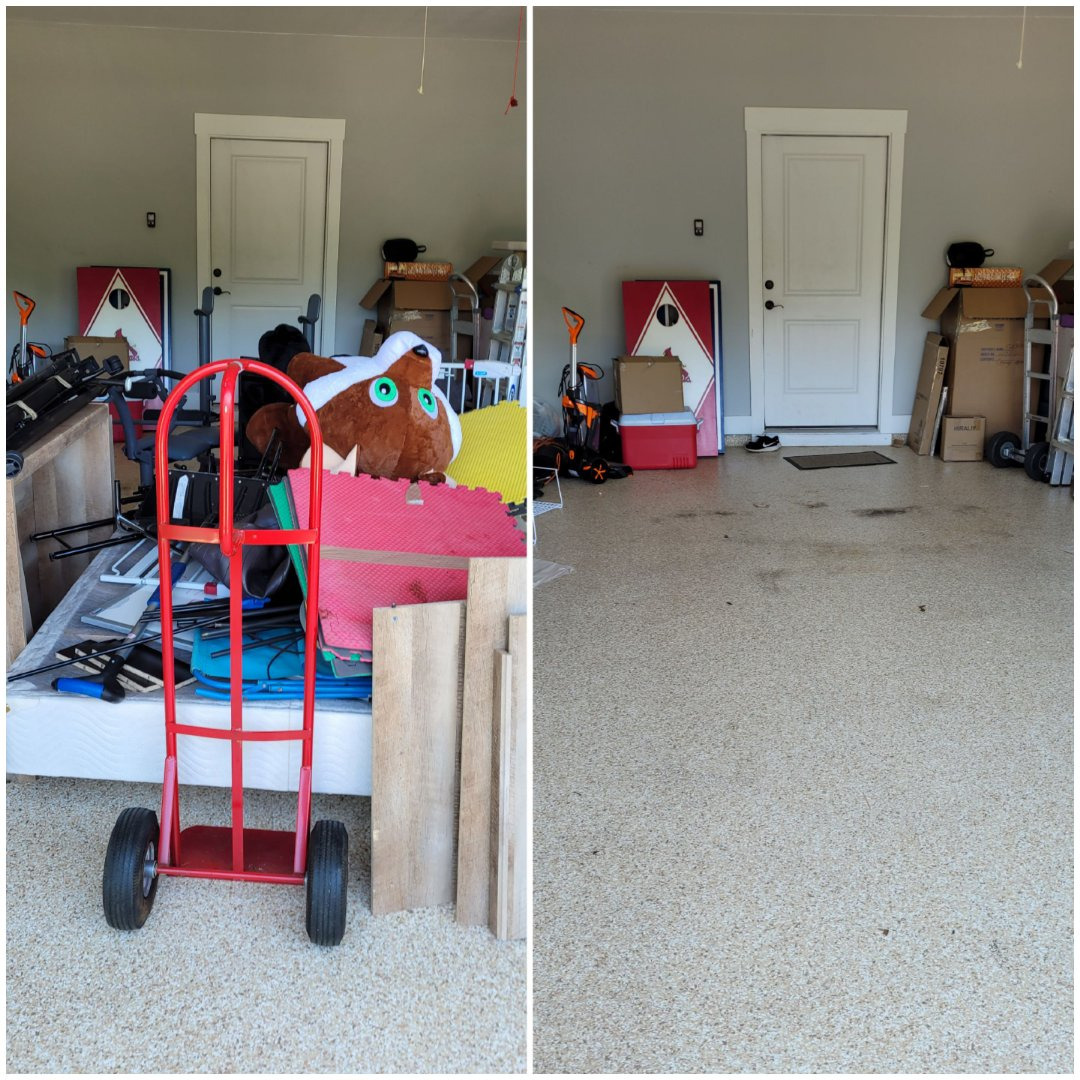 Good afternoon just finished removing trash out of customer garage today