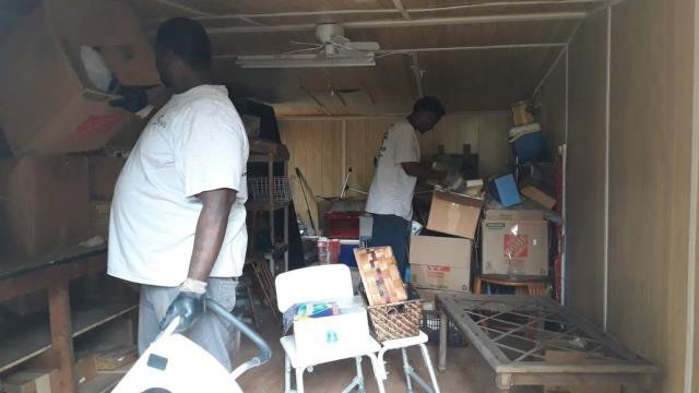 A junk removal company is also able to clean out a space that has a lot of stuff in it.