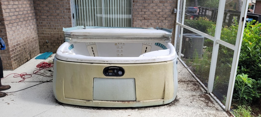 Hot tub removal job today