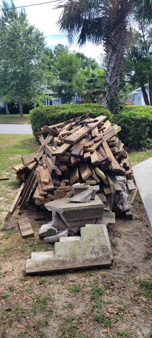 Got a call to come pickup this wood and debris out of customer yard