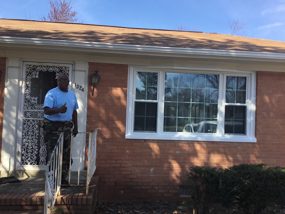 "Petersburg, VA - Just finished a window/ gutter/gutter guard job for Mr Wiggins - ""thumbs up!"""