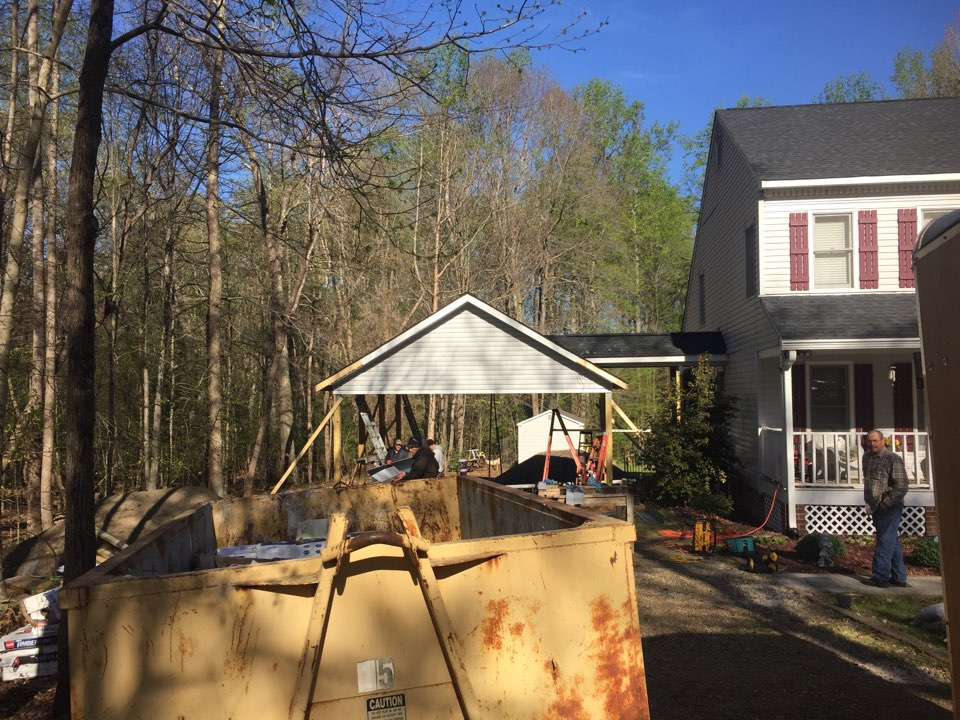 Hopewell, VA - New carport going up, all inspections passed, siding and trim time!!