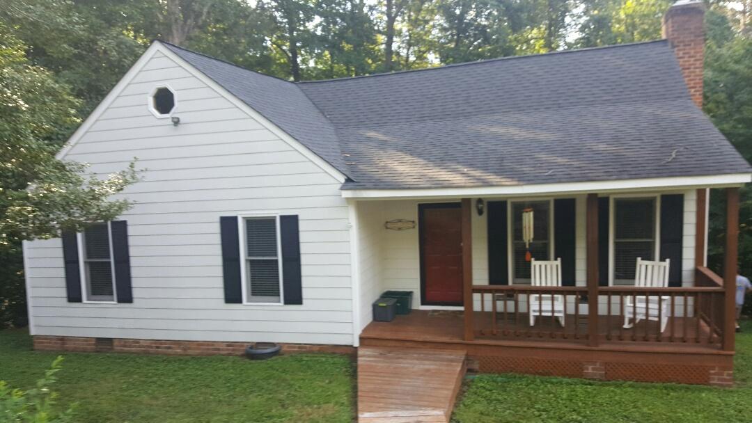 Midlothian, VA - Gutter shutter on Maher home