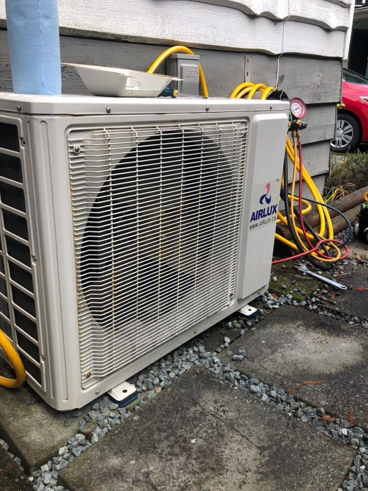Today we are preforming a preventative maintenance on a AirLux ductless heat pump.