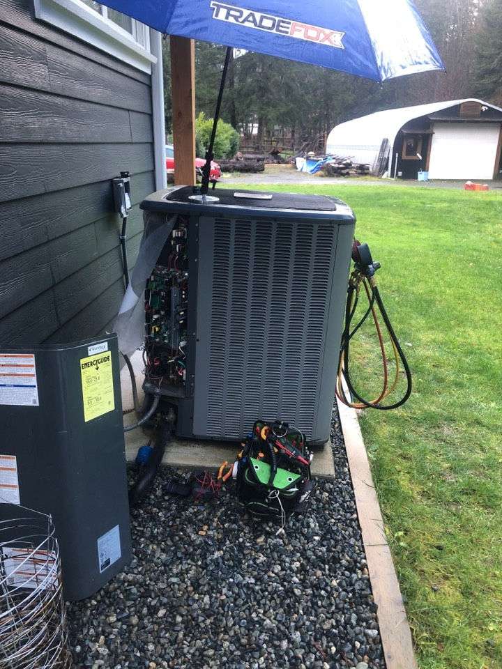 Today I am working on a 20 SEER Amana heat pump.
