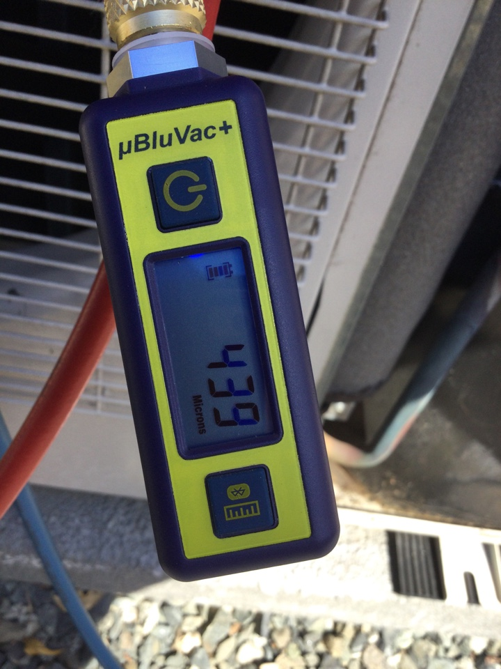 Cobble Hill, BC - Replace bedroom ductless head, evacuate system, charge with refrigerant.