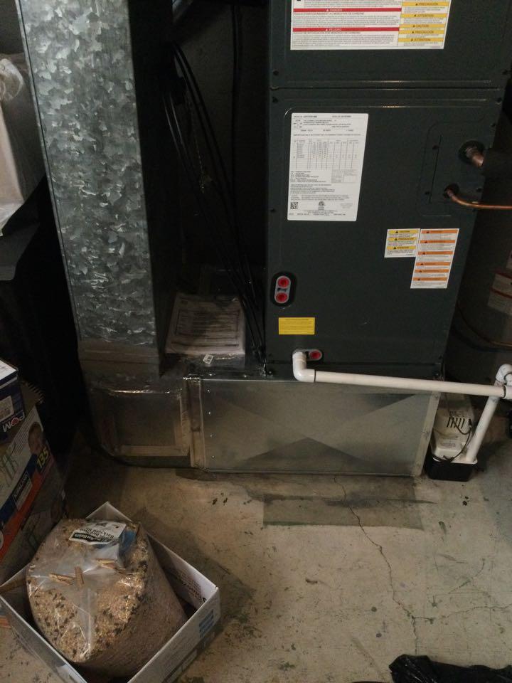 Duncan, BC - Heat pump weld repair