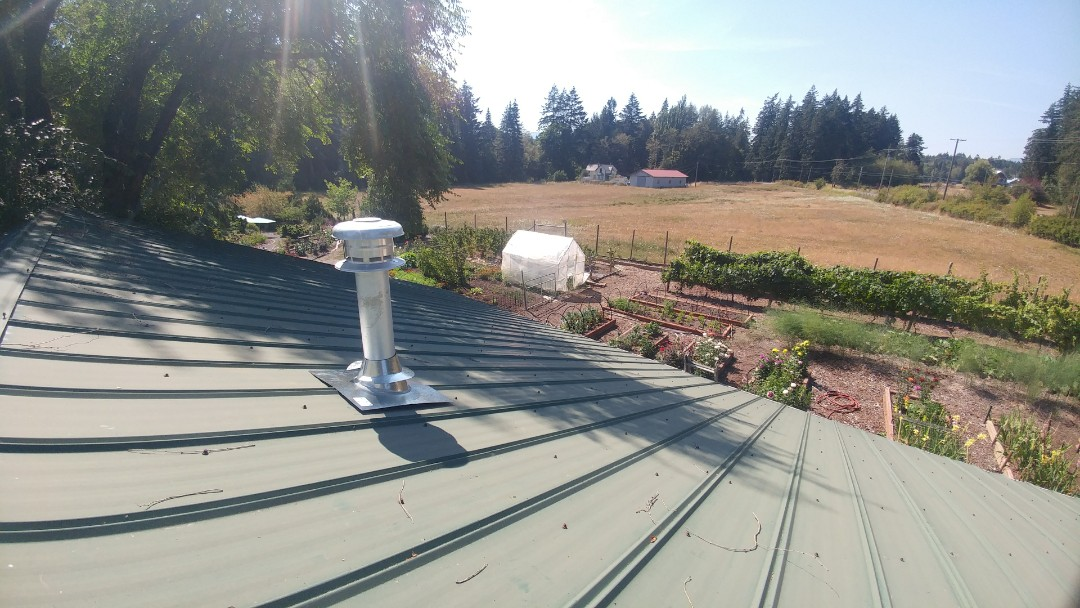Duncan, BC - Connecting a natural gas fireplace to a new service and venting the exhaust out the roof in North Cowichan!