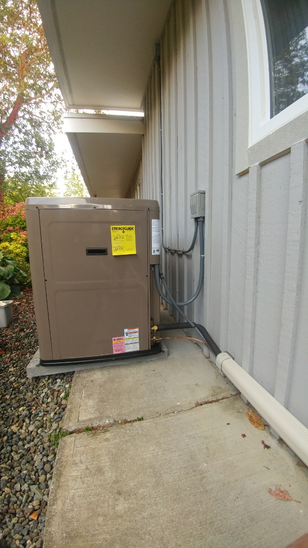 Lake Cowichan, BC - Replacing an oil furnace with a York single stage heat pump in rainy Lake Cowichan!