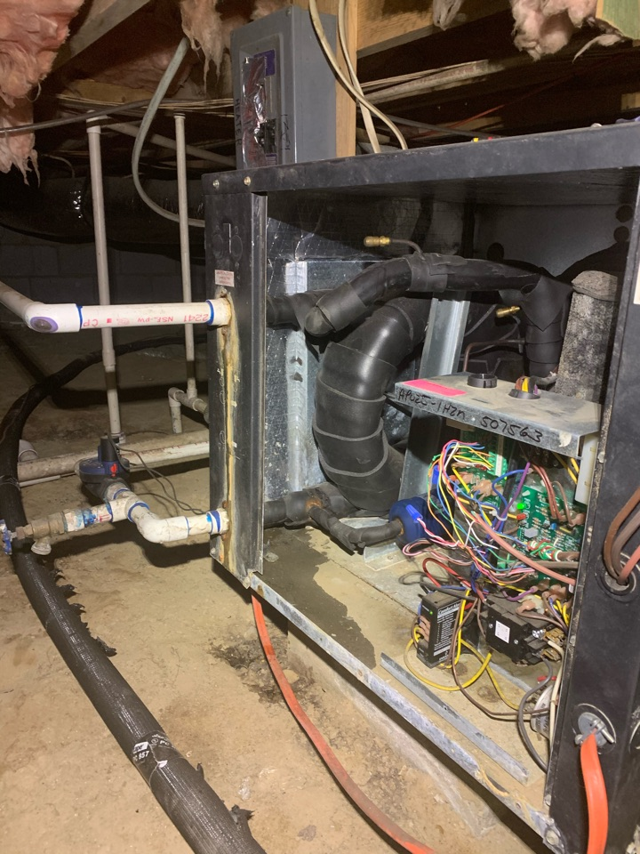 Four Oaks, NC - Testing geothermal unit with city water