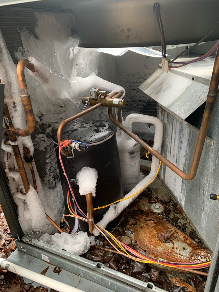 Selma, NC - Another freezing heat pump package unit