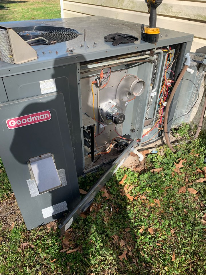 Smithfield, NC - Replaced induced draft motor of gas pack unit