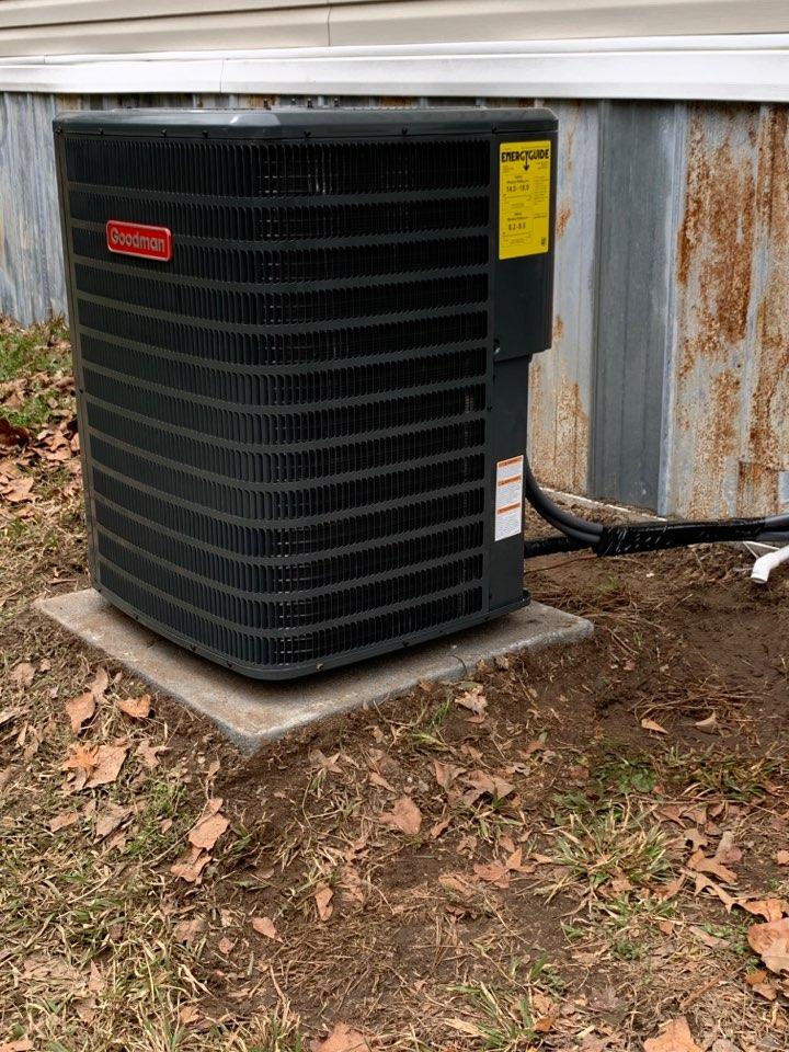 Four Oaks, NC - Installed Goodman heat pump