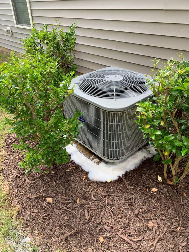 Clayton, NC - Carrier split system not cooling
