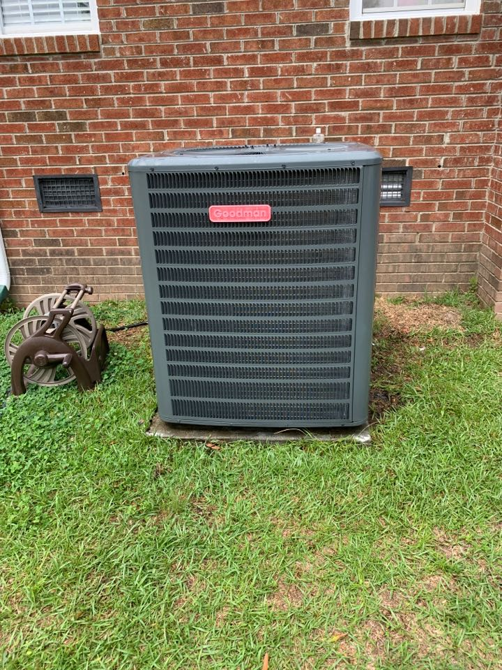 Smithfield, NC - New ptac install and Goodman split spring tune up