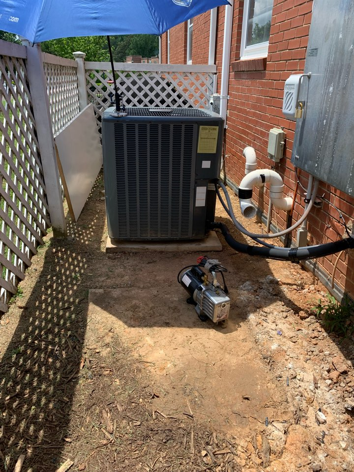 Holly Springs, NC - Star existing ac unit was been relocated