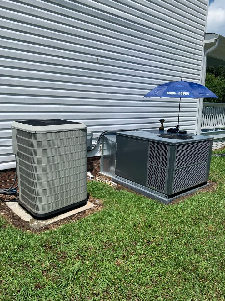 Smithfield, NC - Not cooling call at heat pump package unit