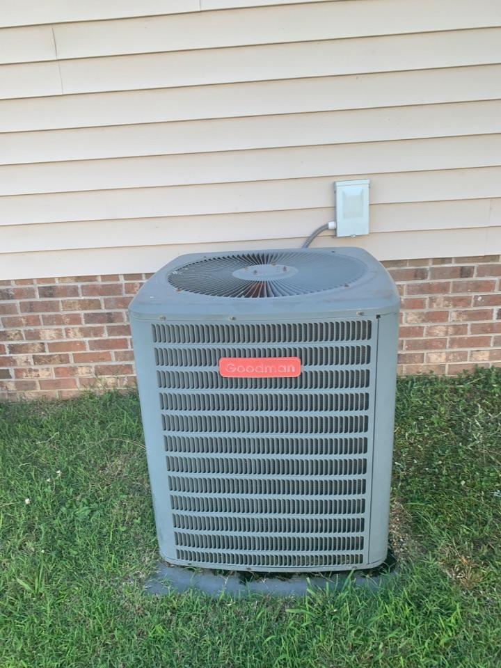 Princeton, NC - Goodman split system not cooling