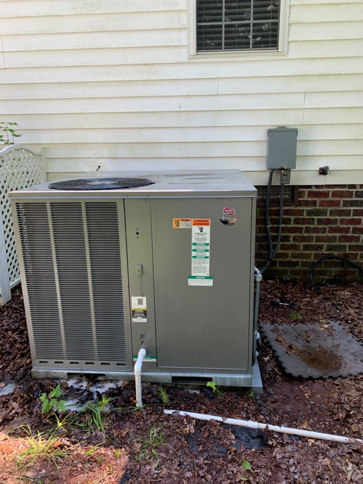 Clayton, NC - RUUD package ac not cooling