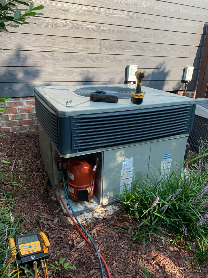 Clayton, NC - Not cooling call at  Trane gas pack unit