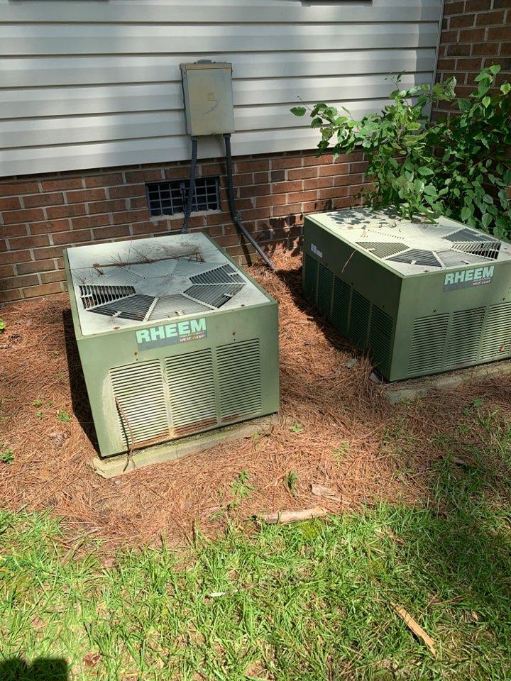 Smithfield, NC - Air handler under home drain is broken off