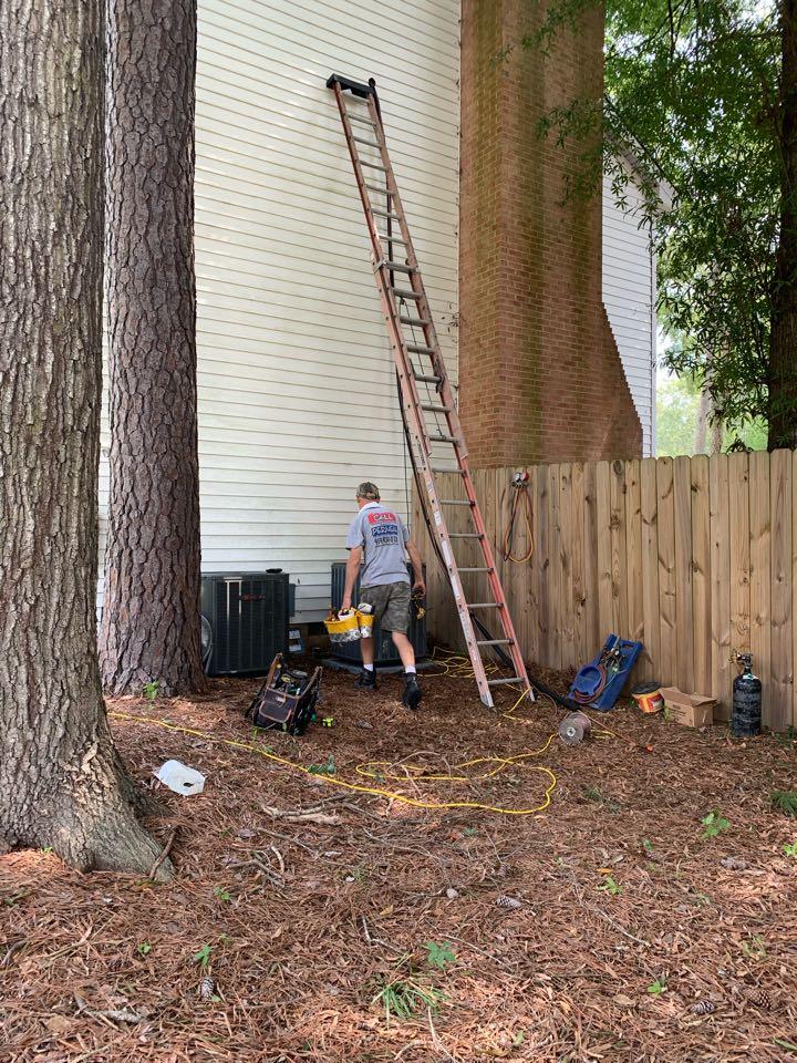 Smithfield, NC - Install new split heat pump system at second floor