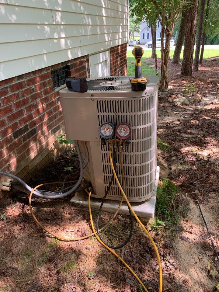 Clayton, NC - Call not cooling at split heat pump system Goodman