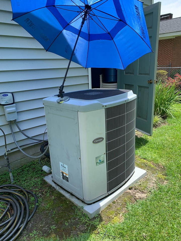 Smithfield, NC - Replaced condenser fan motor under warranty at communication system infinity carrier