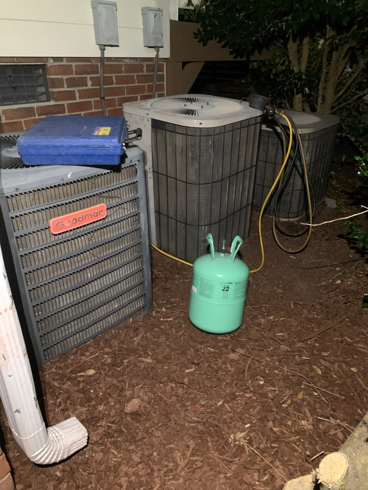 Four Oaks, NC - Not cooling call at all three split heat pump system Goodman 23 years old